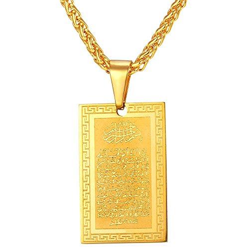Islamic Inscription Pendant Jewelry Necklace