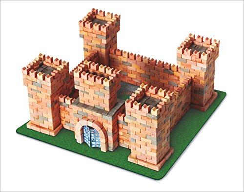 (Wise Elk Toy Dragon's Castle Construction Set, Real Plaster Bricks, Gypsum Reusable Building Kit, 1080 Piece)