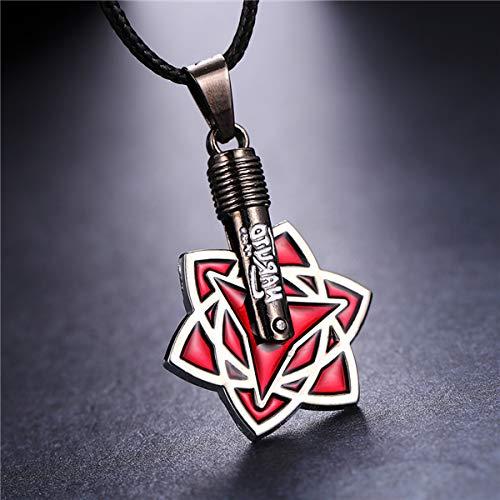 Algol - MOSU 20/pcs lot Anime Naruto Necklace Itachi Uchiha Sasuke Mangekyou Sharingan Pendant Cosplay Toy Jewelry can