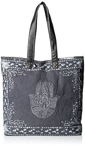 'ale by alessandra Women's Hatha Fully Lined Bag, Charcoal/White, One Size