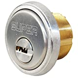 Super Lock MCYL26D Satin Chrome 26D 1'' Mortise Cylinder With High Security 006 Keyway