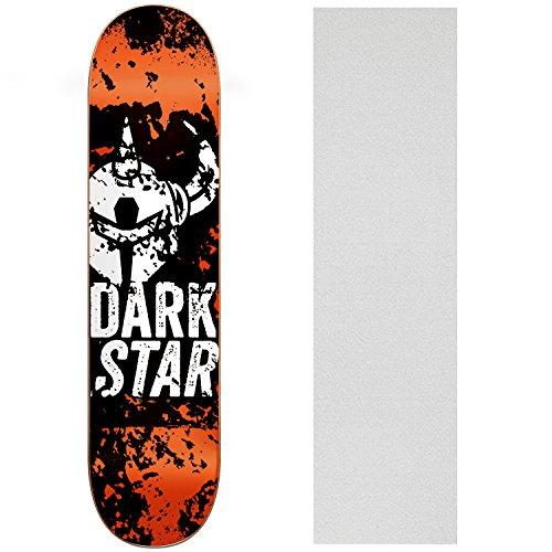 UPC 742091132467, DARKSTAR Skateboard Deck PAINTER ORANGE 8.25 Clear GRIP