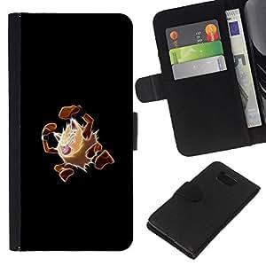 NEECELL GIFT forCITY // Billetera de cuero Caso Cubierta de protección Carcasa / Leather Wallet Case for Samsung ALPHA G850 // Primape P0kemon