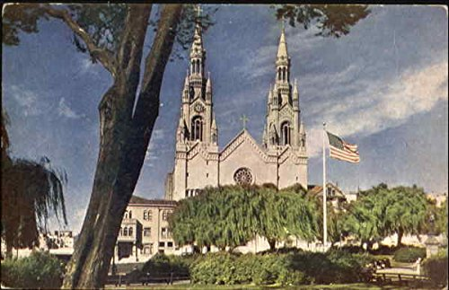 St. Peter And Paul Church, Columbus Square San Francisco, California Original Vintage Postcard (St Peter And Paul Church San Francisco)