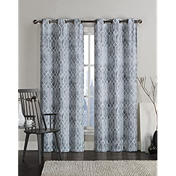 VCNY Home Andreas Grommet Drape Window Curtain Panel Pair Treatment 38x96