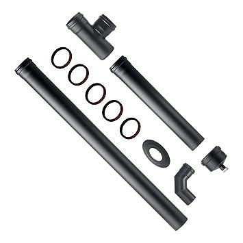 DIVINA Fire kit de instalación para estufa de pellets de acero AL Carbono 80 mm: Amazon.es: Hogar