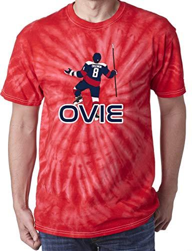 (TIE-DYE RED Washington Ovechkin Ovie Pic T-Shirt Adult)