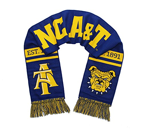 Tradition Scarves NC A&T Scarf - North Carolina A&T Aggies Double Sided Woven