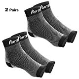 Portzon Compression Foot Sleeves, Plantar Fasciitis Socks with Arch Support, Foot Care Compression Sleeve, Eases Swelling & Heel Spurs, Ankle Brace Support, Relieve Pain Fast