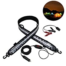 Bonlux 120cm Flexible LED Camping Strip Light 1200mm Daylight Waterproof 12v for Caravan Boat Rv Truck Lamp for RV Caravan Awning Tent Fishing Camp Outdoor Lighting (14W 120CM)