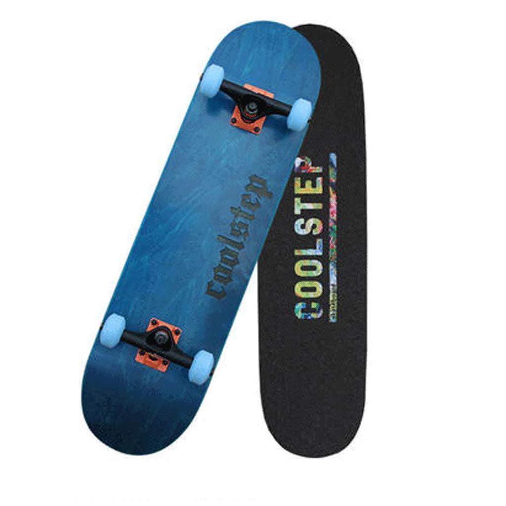【人気沸騰】 スケートボードプロフェッショナル両側傾斜プレートアクション大人の男の子と女の子初心者ストリートスキルスケートボード (色 : Orange) : 青 Orange) B07KW2DS9C 青 青, イタリ屋:6c3cee96 --- a0267596.xsph.ru