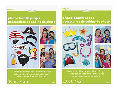 Nw Costumes Jewelry (Pirate and Under The Sea Photo Booth Props, 20 PC Bundle Set)