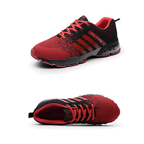 Red02 Sports Walking Fashion Shoes for Black Sneakers Running Men amp;LV Women and LIN Casual ROBqAA
