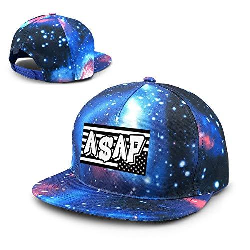ASAP Rocky American Starry Sky Hat Baseball Cap Sports Cap Adult Trucker Hat Mesh Cap Blue