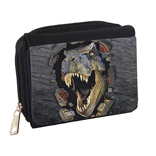 Rockin Wild T-Rex Dinosaur Jurassic Denim Customised Personalised Purse Wallet