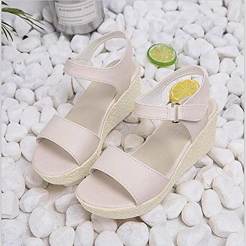 Jamicy Sandals Summer Beige Casual Wedges Girls Platform Party Toe Open Women qpTgBq41z