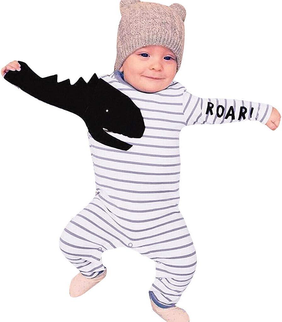 K-Youth Mameluco Bebe Ni/ño Dinosaurio Rayas Monos para Beb/és Ni/ño Ropa Ni/ña Peleles Bebe Recien Nacido Ni/ñas Bodies Bebe Manga Larga Ni/ña Body Beb/é Ni/ños Infantil Fiesta Pijama