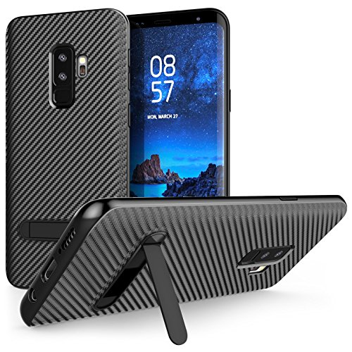 Caseflex Galaxy S9 Plus Carbon Fibre Case with Slim Protection and Stand for the Samsung Galaxy S9 Plus (2018) - Black - CS0005SAPL - Fibre Case