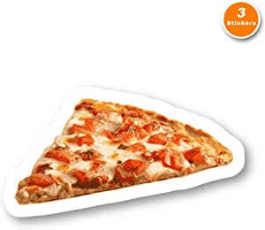 Pizza Slice Sticker Pizza Stickers - 3 Pack - Set of 2.5, 3 and 4 Inch Laptop Stickers - for Laptop, Phone, Water Bottle (3 Pack) S212484