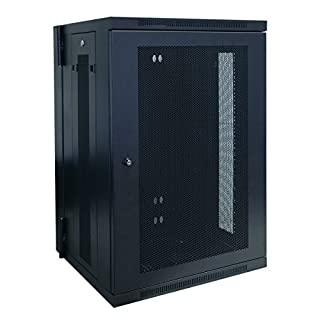 "Tripp Lite 18U Wall Mount Rack Enclosure Server Cabinet, Hinged, 20.5"" Deep, Switch-Depth (SRW18US) (B003WAT7WC) 