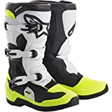 Alpinestars Tech 3S Big Boys' Off-Road Boots - Black/White/Yellow / 6