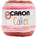 Caron Cakes Self Striping Yarn 383 yd 200 g (Cherry Chip)