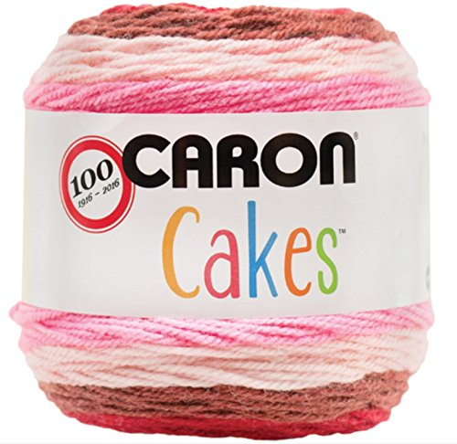 - Caron Cakes Self Striping Yarn 383 yd 200 g (Cherry Chip)