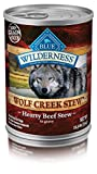 Blue Buffalo Wilderness Wolf Creek Stew High Protein Grain Free, Natural Wet Dog Food, Hearty Beef Stew In Gravy 12.5-Oz Can (Pack Of 12) For Sale
