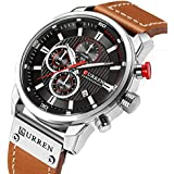 Mens Watches Military Chronograph Fashion...