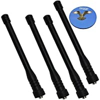 HQRP 4-Pack UHF High Gain Antenna For Beofeng UV-3R+ / UV-5R / UV-5RE / UV-5RA / UV-5RB / UV-5RC / UV-5RD / BF-666S / BF-777S / BF-888S + HQRP Coaster