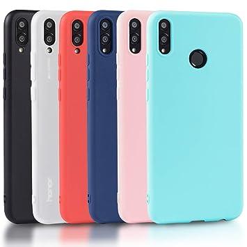 Wanxideng 6 x Funda Honor 8X, Carcasa Suave Mate en Silicona TPU - Soft Silicone Case Cover - 6 Fundas de Colores [ Negro+ Rojo+ Azul Oscuro + Rosa + ...