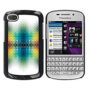 FU-Orionis Colorful Printed Hard Protective Back Case Cover Shell Skin for BlackBerry Q10 - Tribal Tattoo Pattern Owl