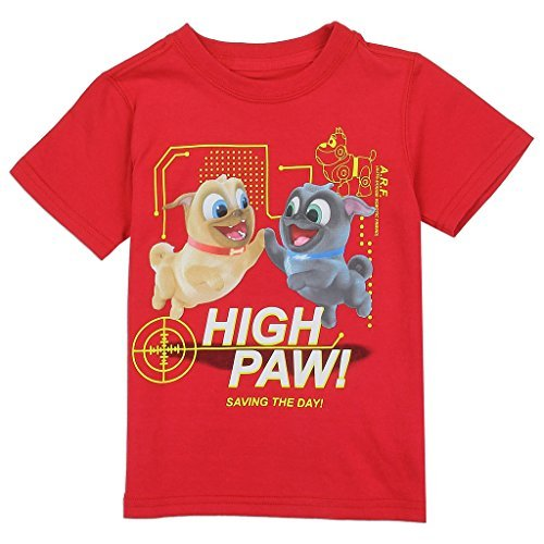 - Disney Little Boys' Toddler Puppy Dog Pals Tee, Red 4T