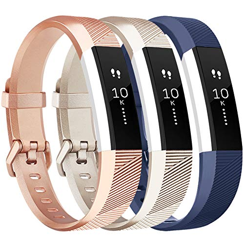 Vancle Replacement Bands Compatible with Fitbit Alta HR and Fitbit Alta (3 Pack), Newest Sport Replacement Wristbands with Secure Metal Buckle for Fitbit Alta HR/Fitbit Alta