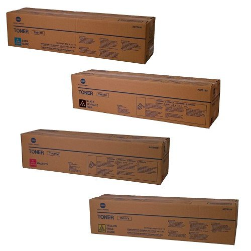 Hot Konica Minolta Part # TN-611K, TN-611C, TN-611M, TN-611Y OEM Toner Cartridge Set by Bizhub hot sale