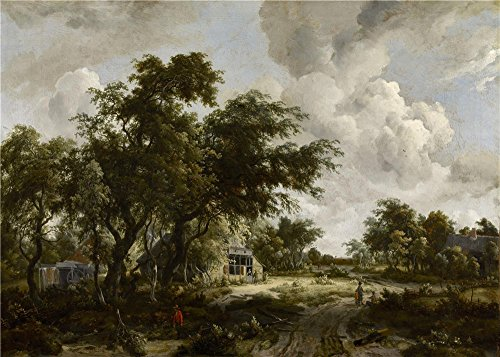 Oil Painting 'Meyndert Hobbema - Village With Water Mill Among Trees, C. 1665' 16 x 22 inch / 41 x 57 cm , on High Definition HD canvas prints, gifts - Delivery Cash On Sunglasses