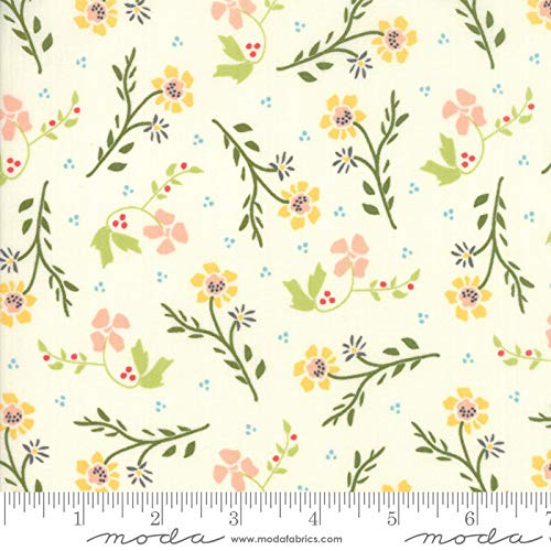 Walkabout Moda Quilt Fabric Floral Dandelions Ivory Style 37562/11