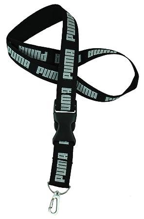 Puma lanyard llavero Collar de cordón keychain negro: Amazon ...