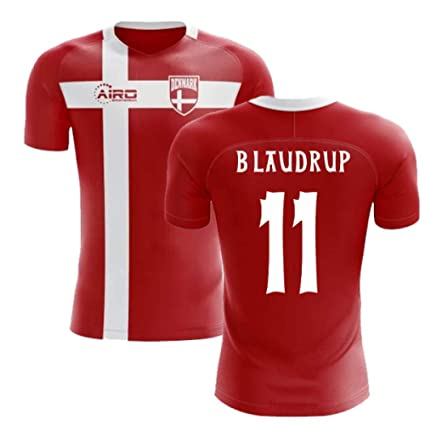 732f5146662 Amazon.com : Airosportswear 2018-2019 Denmark Flag Concept Football Soccer  T-Shirt Jersey (Brian Laudrup 11) - Kids : Sports & Outdoors