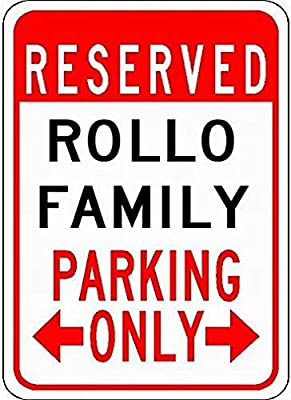 Ufcell Metal Signs Rollo Family Parking 12x16 Novelty Tin Street Sign