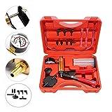Podoy 2 in 1 Brake Bleeder Kit Handheld Vacuum Pump Test Set Tuner kit for Automotive Tuner Tools Adapters Case