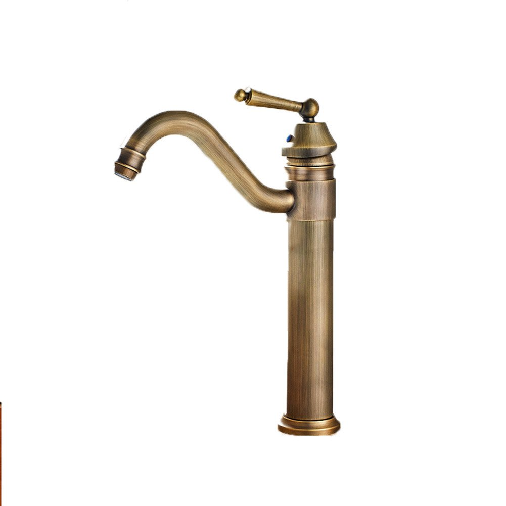 Good quality Water faucet basin mixer antique faucet hot and cold single hole Bathroom Vanity basin sink taps on the console