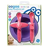 oogaa Silicone Baby Feeding Set - Purple/Pink