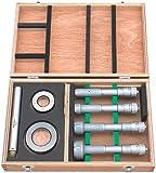 Mitutoyo 368-992 Holtest (Type ll) Vernier Inside Micrometer, Complete Unit Set, 20-50mm Range, 0.005mm Graduation, +/-0.003mm Accuracy (4 Piece Set)