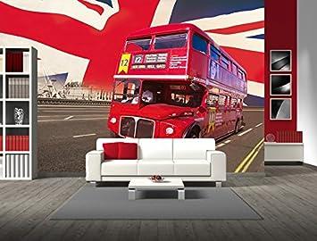 Direct Wallpapers London Bus Wandbild Amazonfr Cuisine Maison