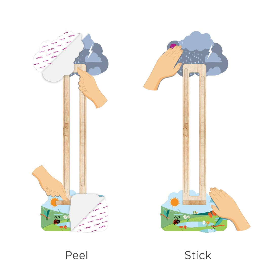 ORIBEL VertiPlay Wall Toys Play Wall Combo Set (Tree Top Adventure, Slidey Spidey, Woodpecker, Xylophone, Door Knocker) by ORIBEL (Image #2)
