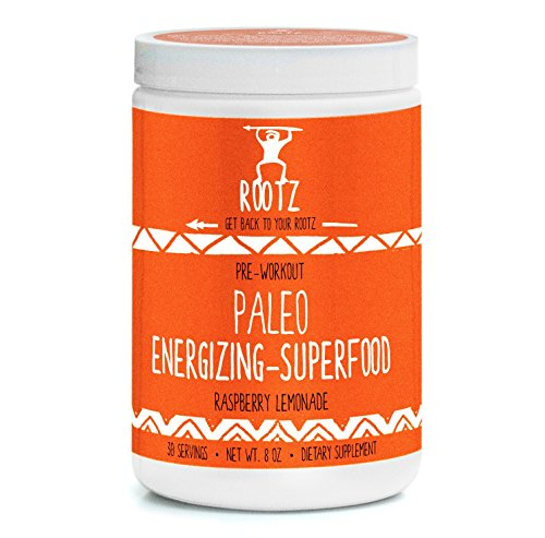 Rootz - Paleo Superfood Pre Workout - Raspberry Lemonade - 8 oz