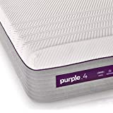 "The New Purple Mattress, Queen Size, with Soft 4"" Smart Comfort Grid Pad and Cooling Comfort-Stretch Cover"