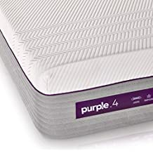 """The New Purple Mattress, Queen Size, with Soft 4"""" Smart Comfort Grid Pad and Cooling Comfort-Stretch Cover"""