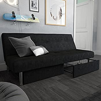 Amazon Com Coaster Casual Brown And Chrome Sofa Bed